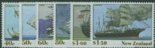 NZ SG1541-6 New Zealand Heritage (4th issue) The Ships set of 6